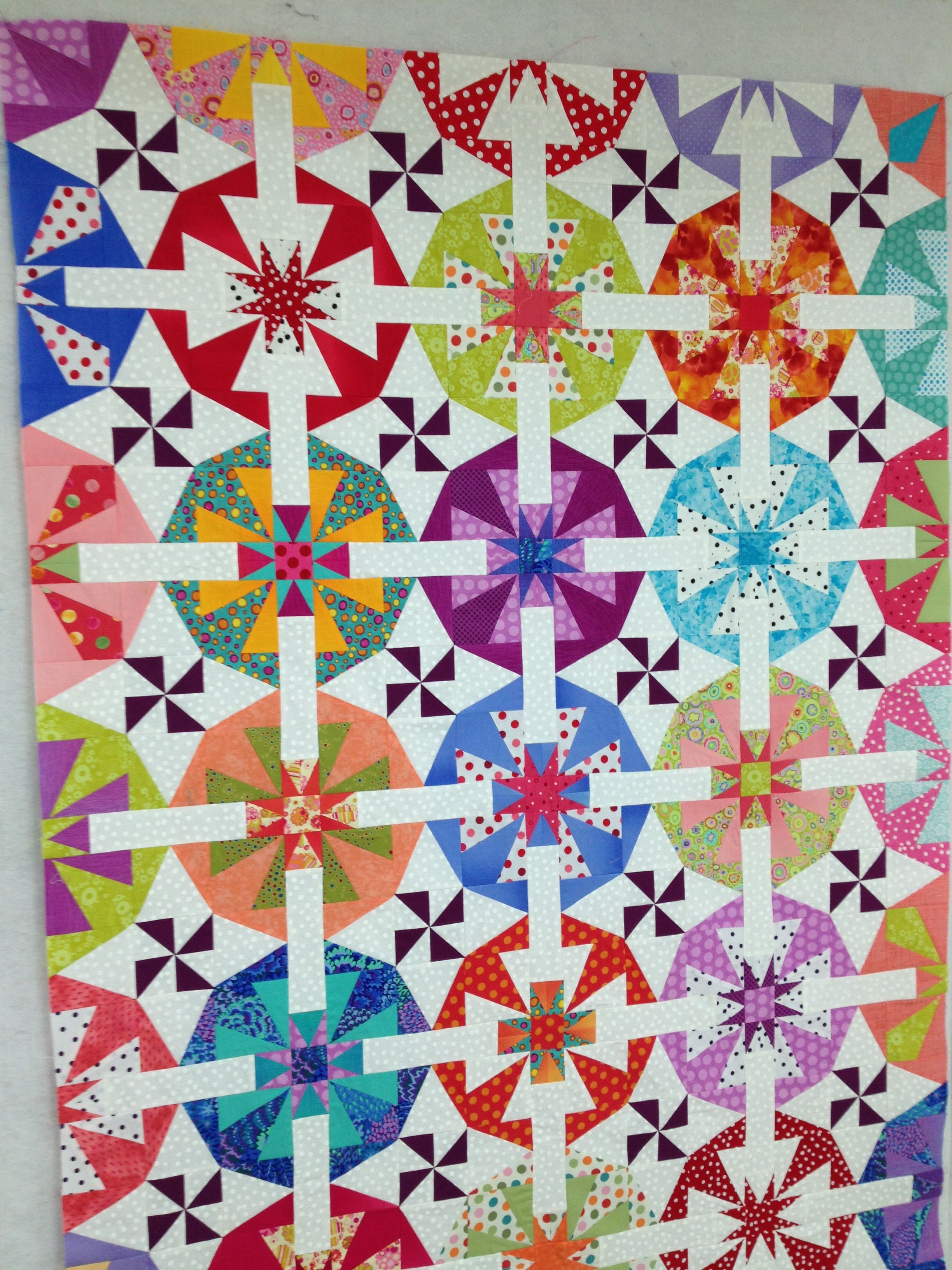 Fairy Floss Quilt Made Using Bloc Loc Square Up Rulers