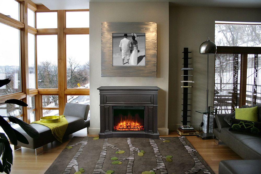 Highfield Electric Fireplace Mantel Package In Espresso Mef2362e