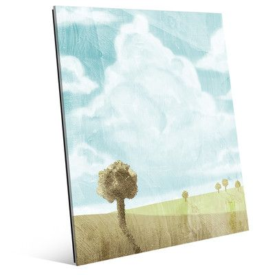 "Click Wall Art Spring Sky Painting Print Size: 14"" H x 11"" W x 1"" D"