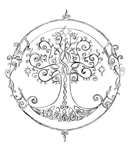 0и.jpg | Mandalas, Celta y Árbol de la vida