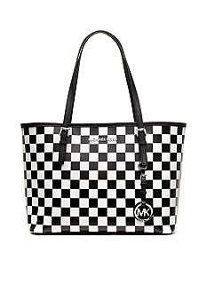 ebd1b891c76ef3 MICHAEL Michael Kors Checkered Board Small Travel Tote - Belk.co ...