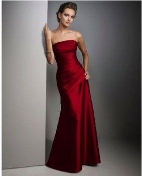 elegant long red dress. I love this. It's sooooo simple but looks ...