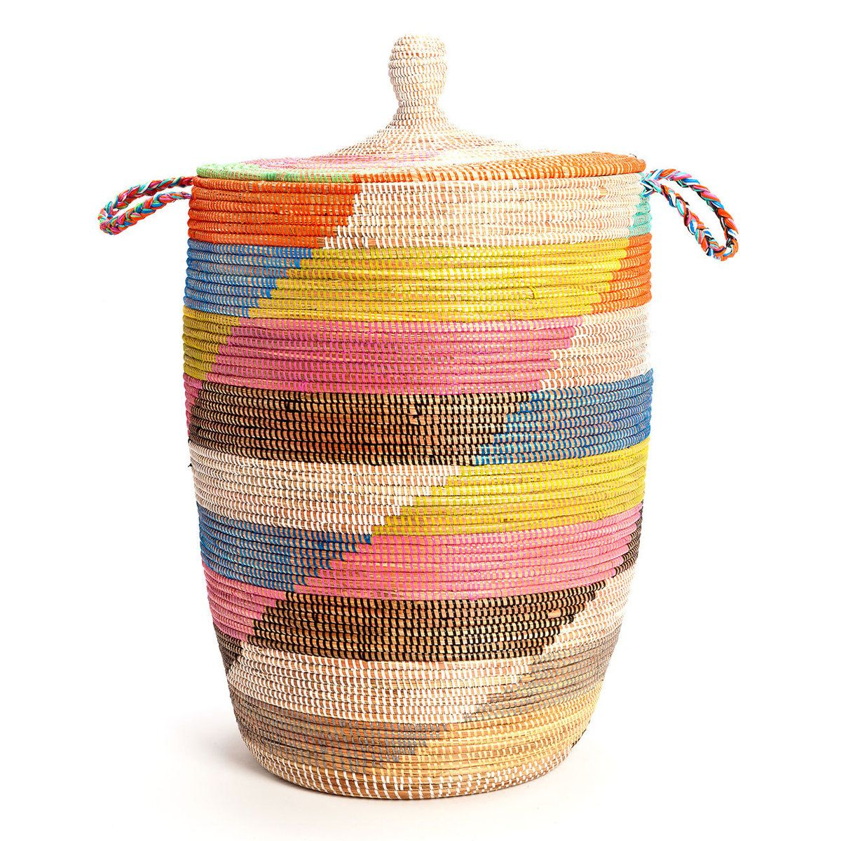 African Woven Hamper Dou African Hamper By Vermont Marble Laundry Room