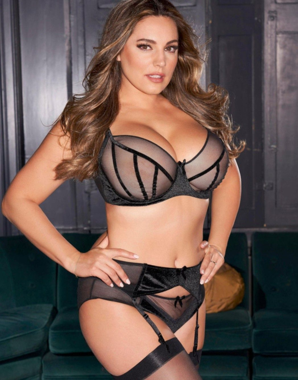 You uneasy Kelly brook black lingerie