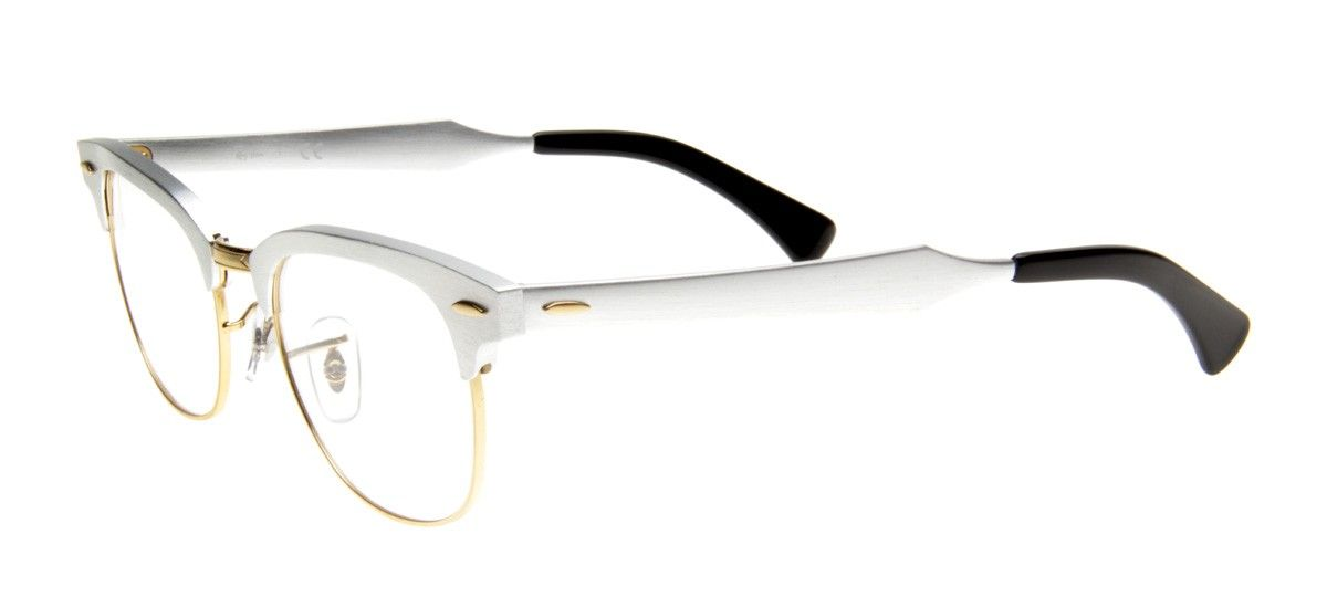 96ded9838bbf9 Ray-Ban RB6295 Clubmaster Aluminum Wayfarer- Armação Prata   Glasses ...
