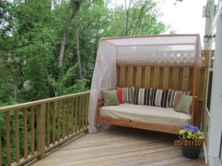 Outdoor Pine Canopy Daybed Do It Yourself Home Projects from Ana