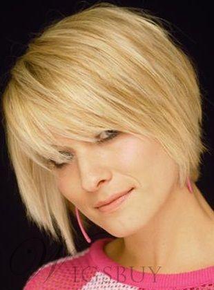 Carefree Hairstyle Short Straight Golden Fashion Wig | Fashion ...