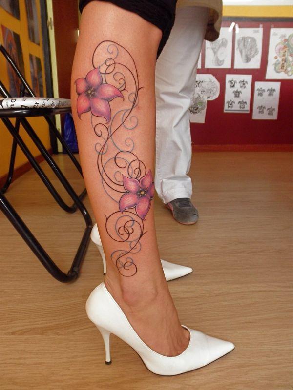 Best Tattoo Designs For Women Flower Leg Tattoos Leg Tattoos