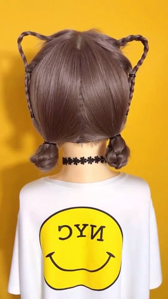 Cat ears hairstyle