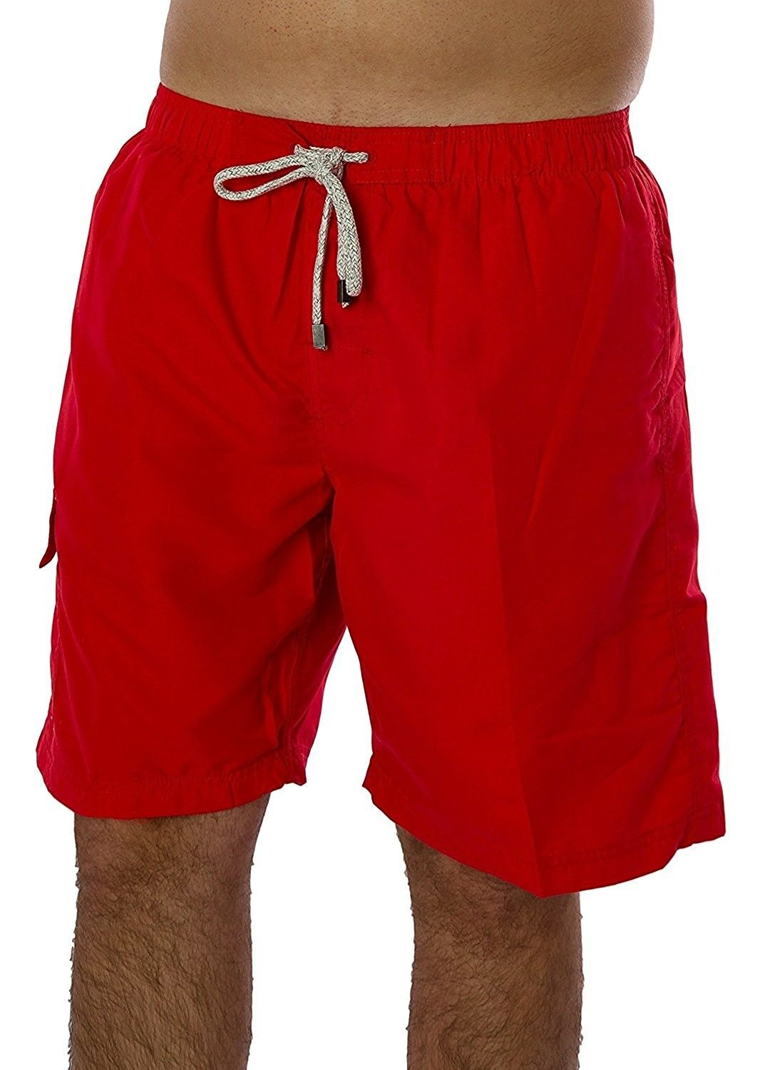 daee365014 Men's Clothing, Swim, Trunks, Men's Solid Color Swimwear 100% Polyester  Quick Dry Board Shorts Bathing Suit Surf Beach Swim Trunks - Red -  C617YGZRQN3 #men ...
