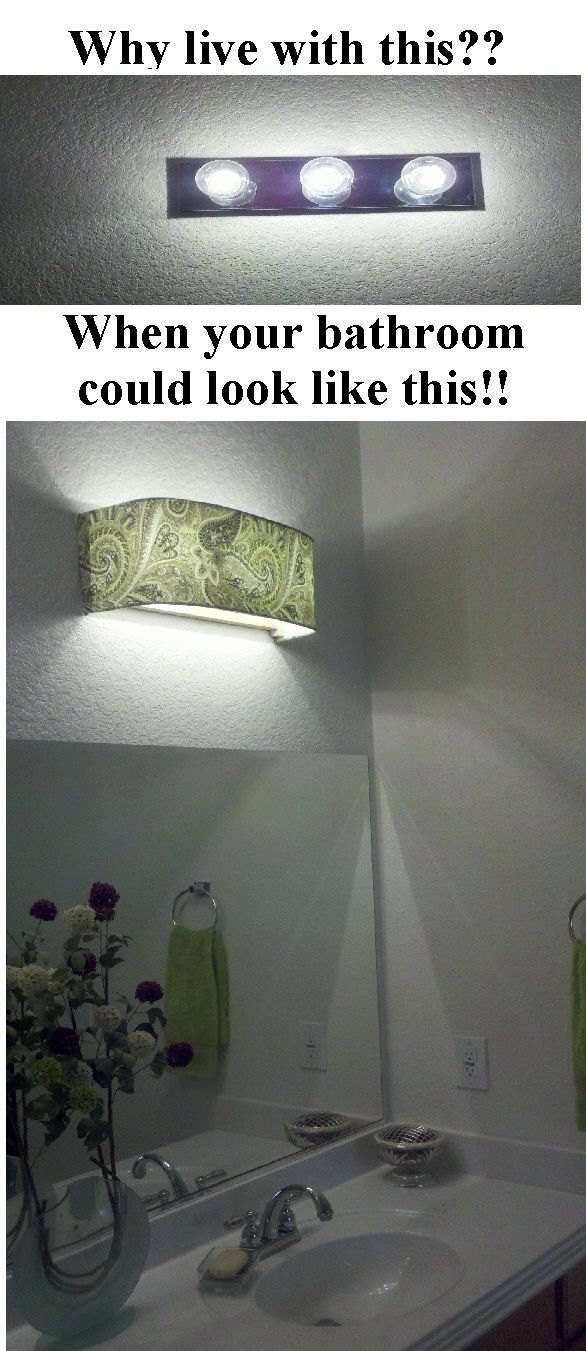 Bathroom Vanity Lights With Shades this is a before and after of what vanity shades of vegas can do