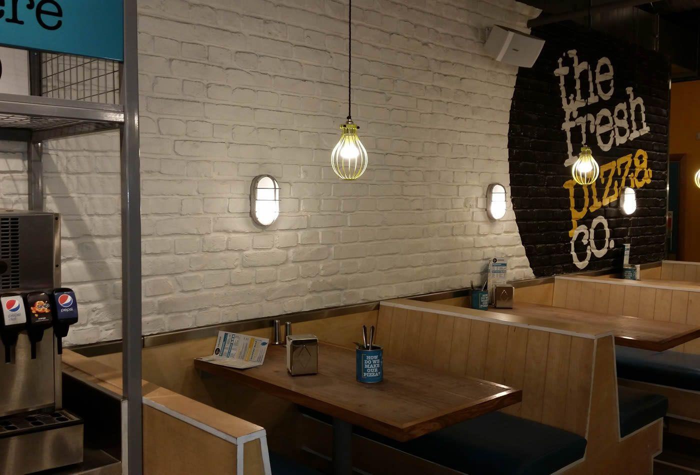 Ladrillo Loft restaurant wandverkleidung ladrillo loft blanco steinwand