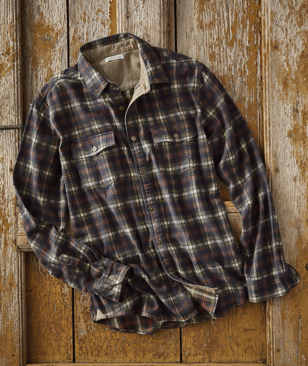 Men S Basecamp Plaid Shirt As Ruggedly Handsome As A Flannel Gets And As Soft Too Vintage Inspi Sweater Outfits Men Button Shirts Men Casual Wear For Men