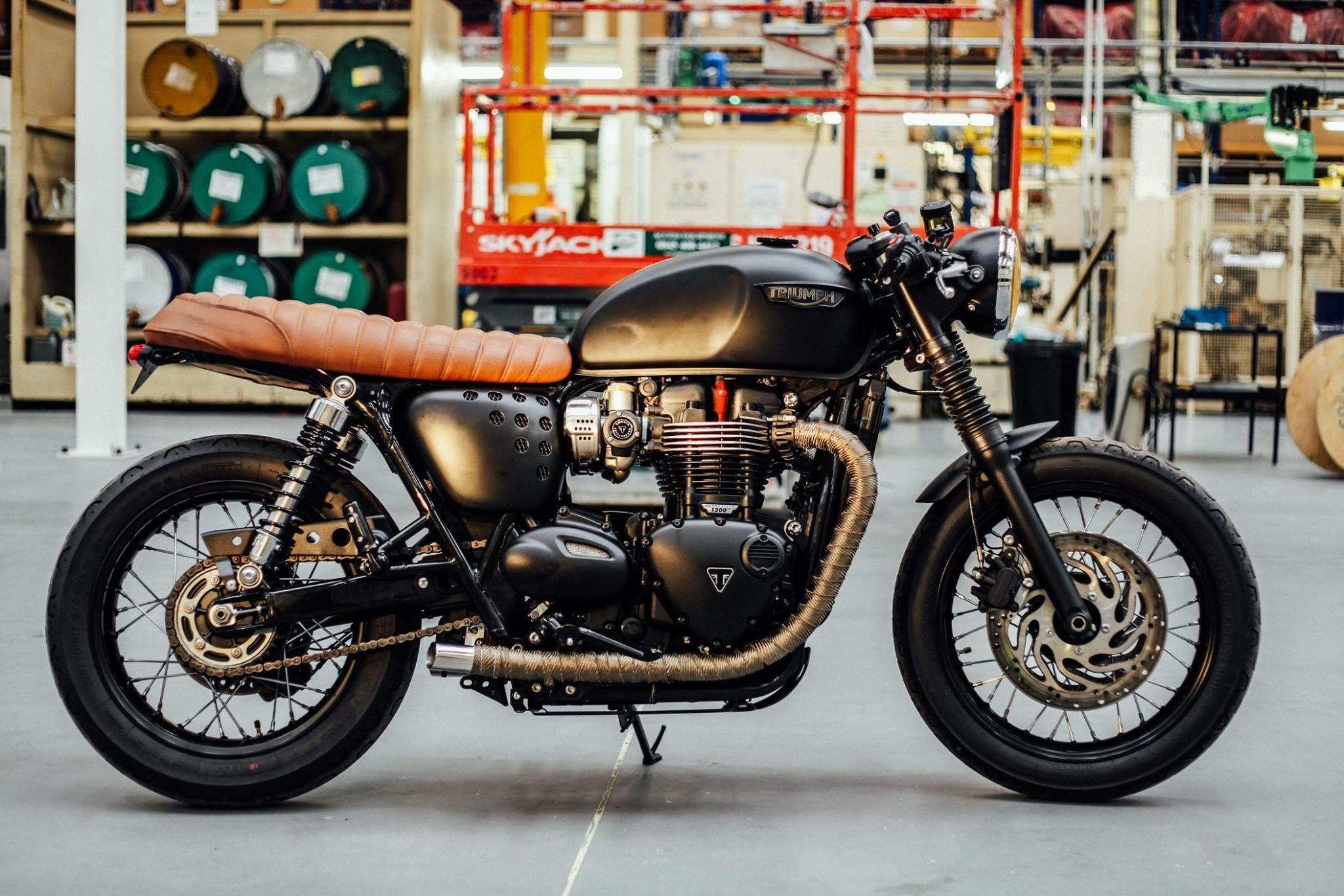 Triumph Bonneville T120 Custom For David Beckhams Hm Campaign