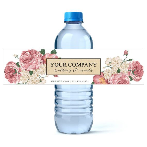 Custom Water Bottle Labels Wedding