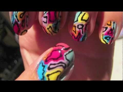 Colorful Abstract Nail Tutorial