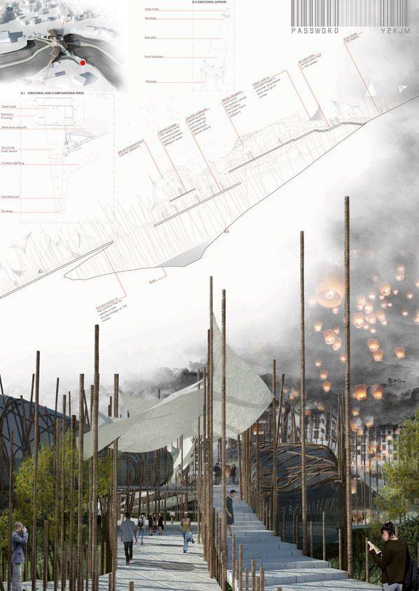 Winners of the sc2012 links bridging rivers competition presentation board architektur - Beruhmte architektur ...