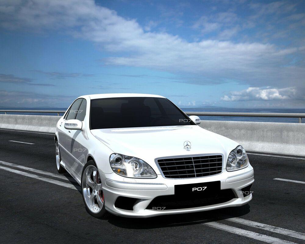 Mercedes S W220 FRONTSTANGE HECK STOßSTANGE SEITENSCHWELLER AMG LOOK BODYKIT #exoticcars