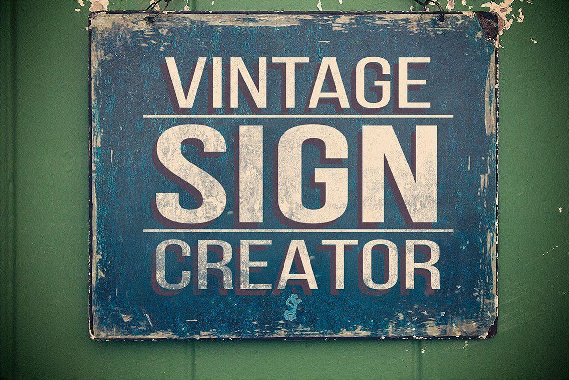 Vintage Sign Creator Vintage Signs Print Design Template Graphic Design Resources