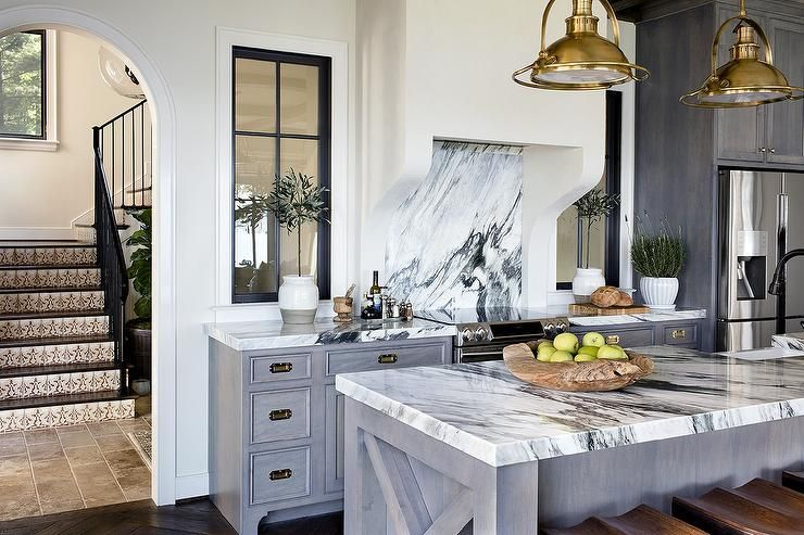 Beautiful kitchen features gray wash cabinets paired with ... on antique white kitchen ideas, coastal white kitchen ideas, farmhouse white kitchen ideas, french white kitchen ideas, designer white kitchen ideas, classic white kitchen ideas, black white kitchen ideas, country white kitchen ideas, traditional white kitchen ideas, tuscan white kitchen ideas, green white kitchen ideas, rustic white kitchen ideas, southwest white kitchen ideas, cottage white kitchen ideas, all white kitchen ideas, contemporary white kitchen ideas,