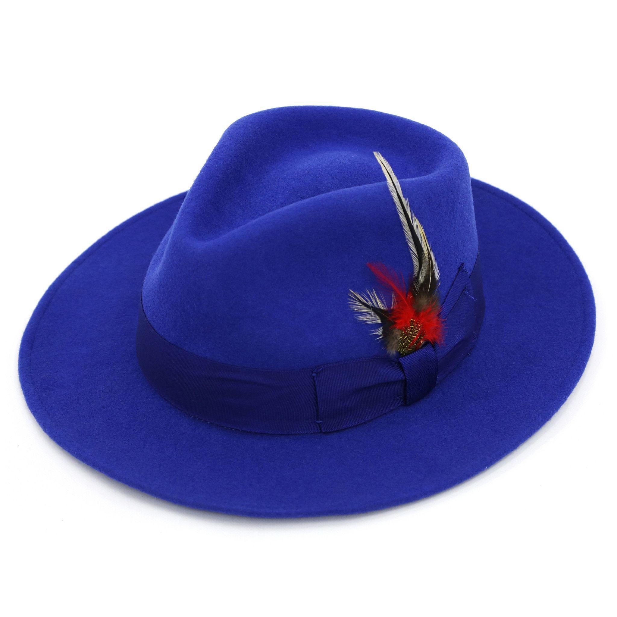 Ferrecci Crushable Fedora Hat 100/% Wool