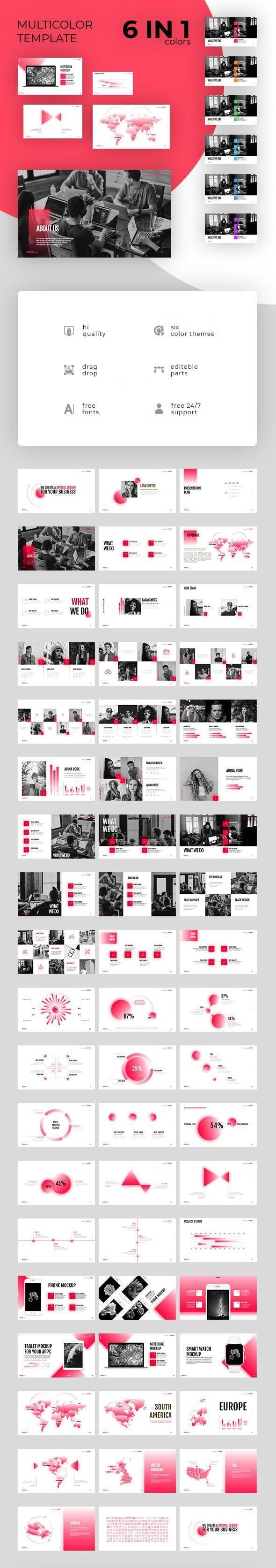 6 in 1  Presentation Template  Startup Corporate Powerpoint