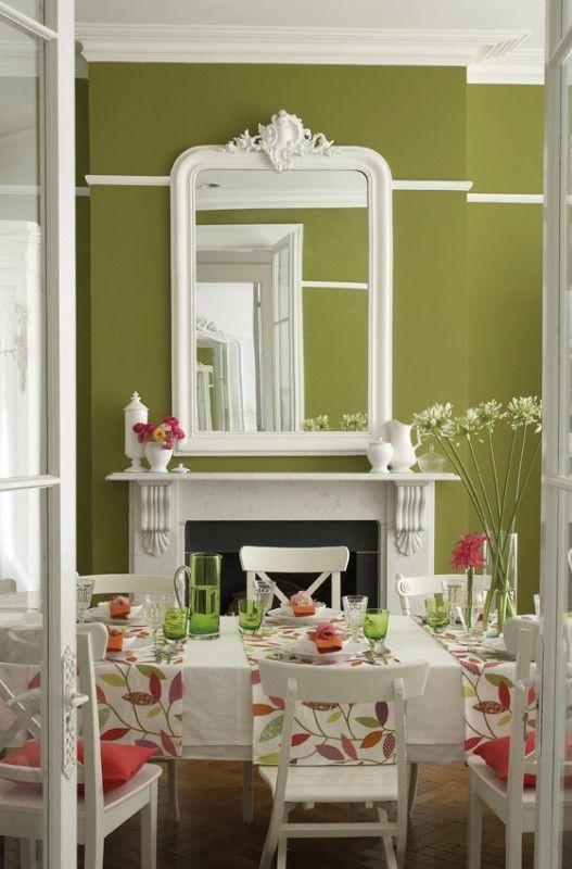 Wirkt wie draußen Dunkles Apfelgrün von Little Greene im Esszimmer - wandfarben fr esszimmer