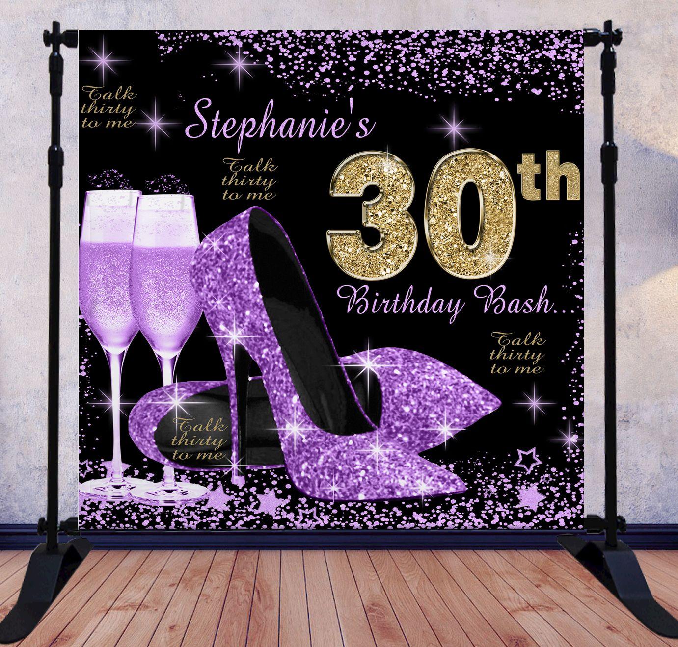 Fabulous 50 Birthday Backdrop Birthday Backdrop Birthday Party Background Party Background