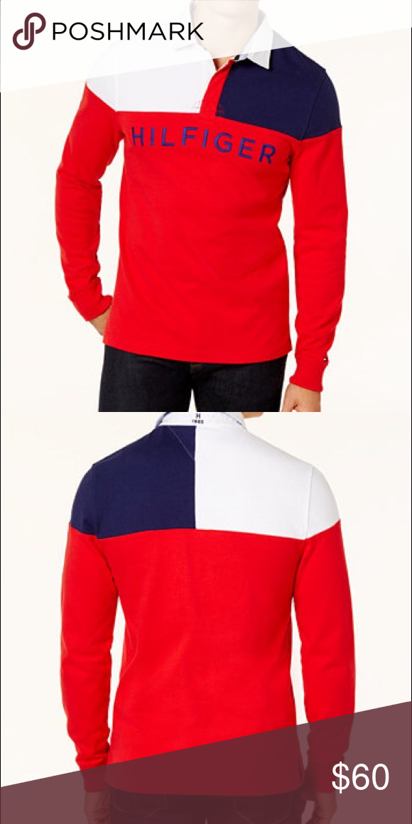 3e92d5a13ee Men's Tommy Hilfiger rugby polo long sleeve Brand new with tags ships fast  FINAL PRICE NON NEGOTIABLE Tommy Hilfiger Shirts Polos