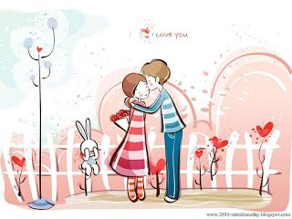 My Quotes Cute Cartoon Couple Love Hd Wallpapers For Valentines Day