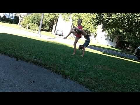 two person easy acro tricks  2 person stunts acro dance