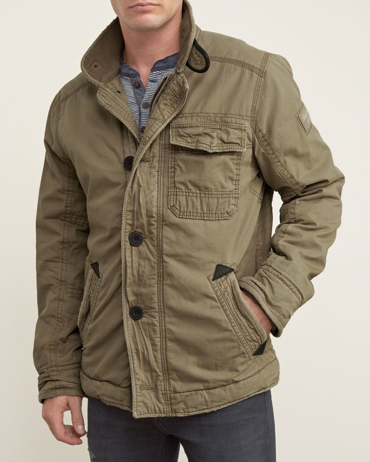 A F Utility Jacket Mens Outerwear Jacket Jackets Mens Outfits [ 1500 x 1200 Pixel ]