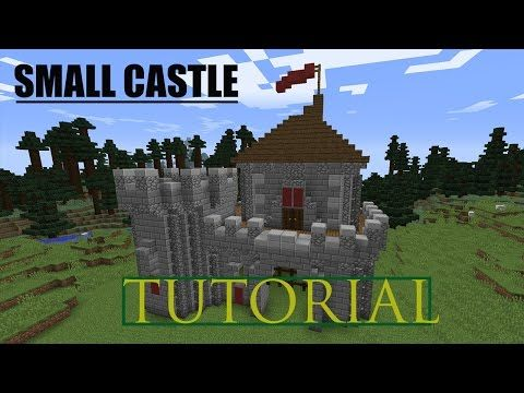 Minecraft How To Build A Small Castle Tutorial Youtube