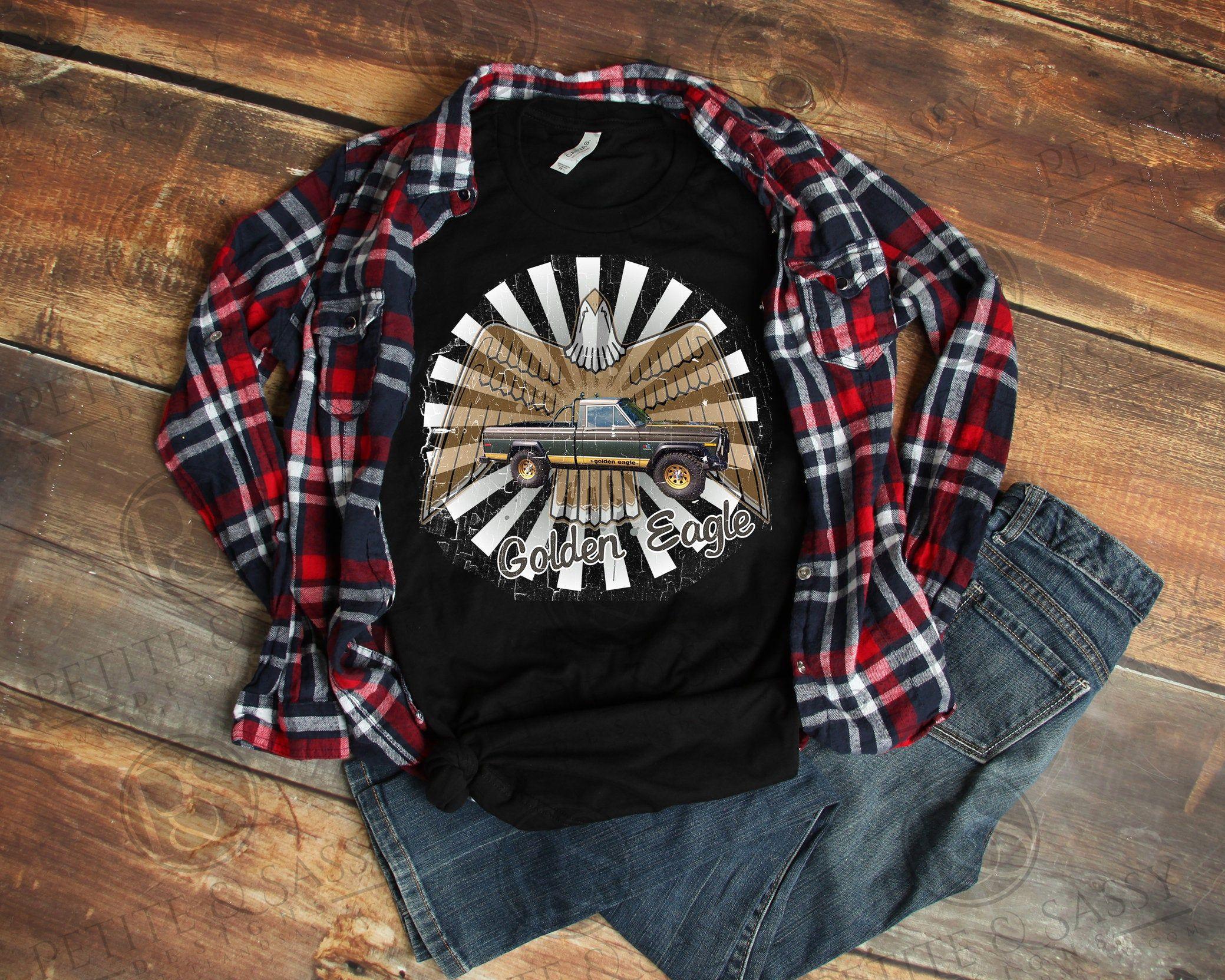 Vintage Look Golden Eagle Jeep T Shirt Vintage Looks Shirts