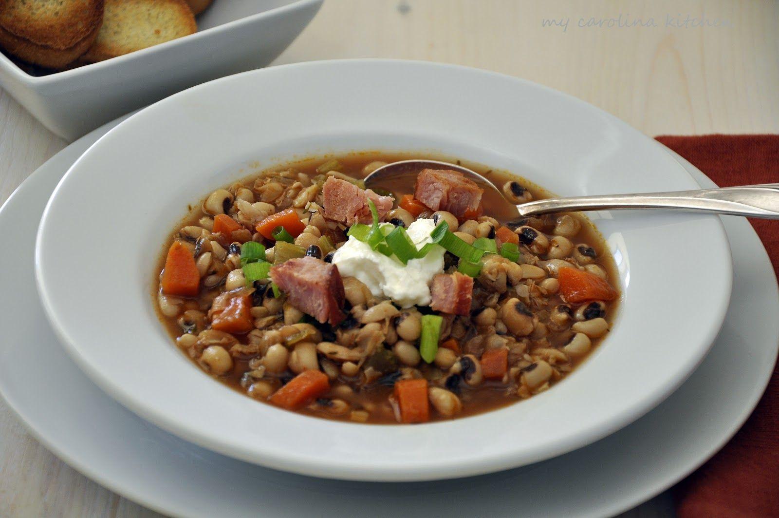My Carolina Kitchen: Black-Eyed Pea Soup – good luck food ...