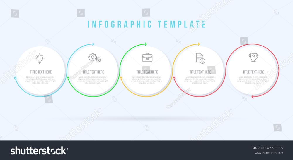 Infographic Circle Thin Line Template 5 Stock Vector Royalty Free 1469570555 Infographic Templates Infographic Templates