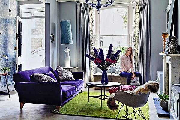 Living room with an english mix of colours styles for Victorian terrace living room ideas