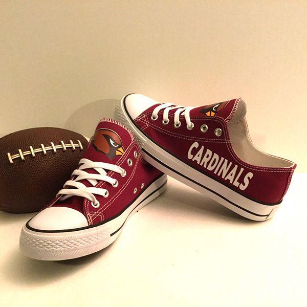 Arizona Cardinals Converse Style Shoes - http://cutesportsfan.com/arizona-cardinals-designed-sneakers/