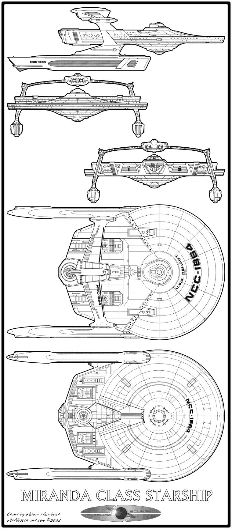 Miranda-cl starship schematics | *Nerd Alert*!!! | Pinterest ... on macross sdf-1 schematics, train schematics, cylon fighter schematics, space schematics, starbase schematics, mecha schematics,