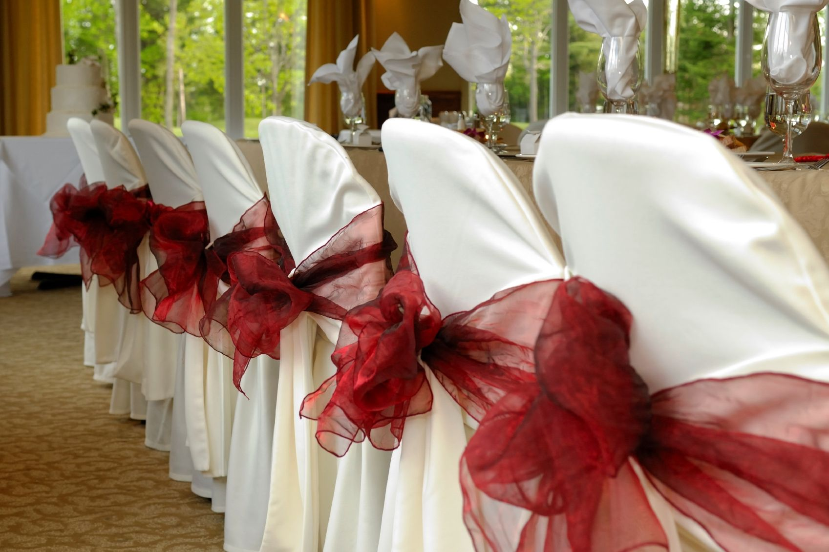 Wedding decorations rental  by All Seasons Event Rental  Chair Bows  Pinterest  Party wedding