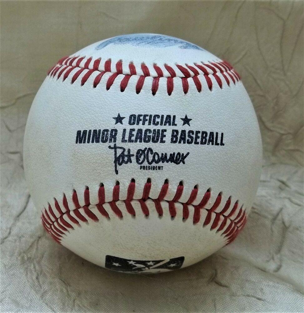 Details About Official Ball Minor League Baseball Mlb Game Used Ball In 2020 Minor League Baseball Homerun League