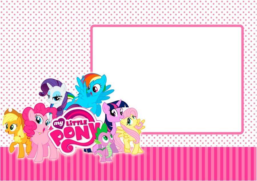 Kit Imprimible My Little Pony GRATIS | little pony niña | Pinterest ...