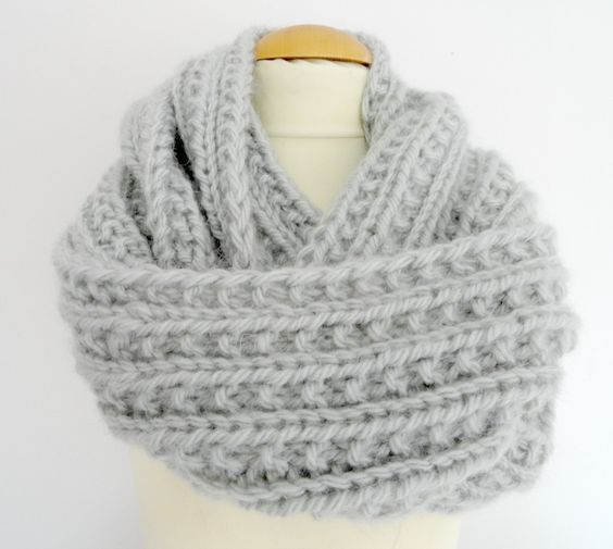 Snood En Fausse Maille Anglaise Libertylle Barbara Tricot
