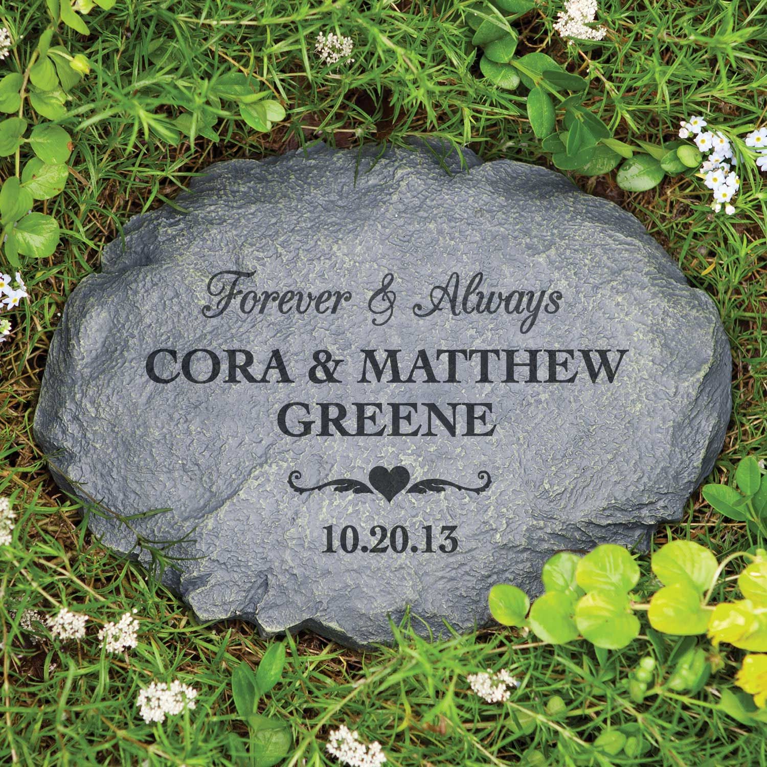 engraved personalized landscape product stones grandkids our stone garden rock