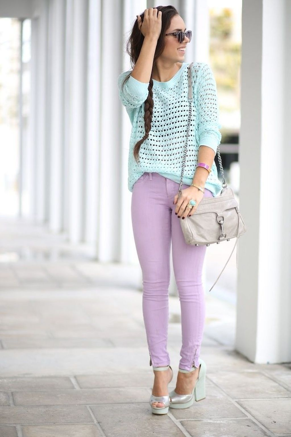 5bd3a2d13fe9e0 Cool 44 Unique Pastel Color Outfit Ideas For Spring And Summer 2018