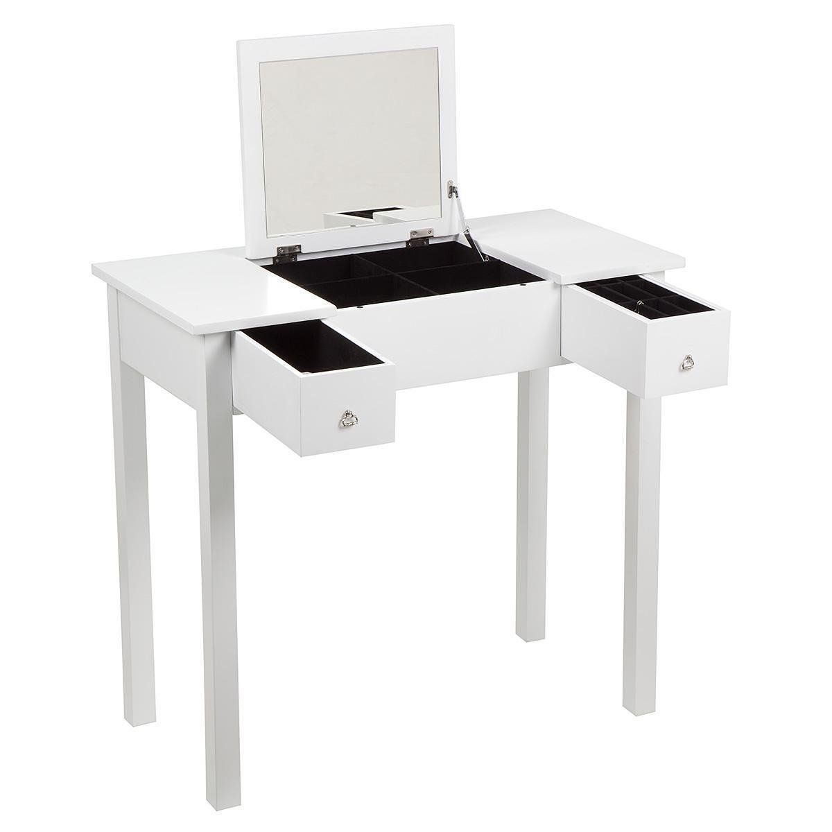 Mirrored Bedroom Furniture Uk Hartleys Bedroom Dressing Table With Folding Vanity Mirror Amazon