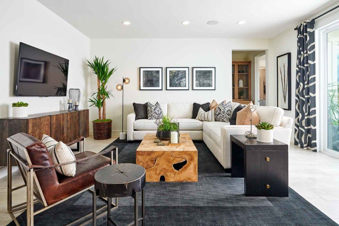 Mixing Dark And Light Wood Tones Gives Off A Great Energy For