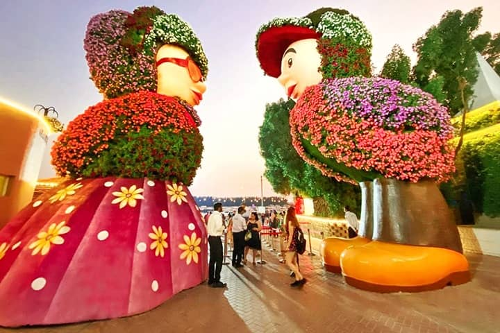 The tickets of the Dubai Miracle Garden is validated for