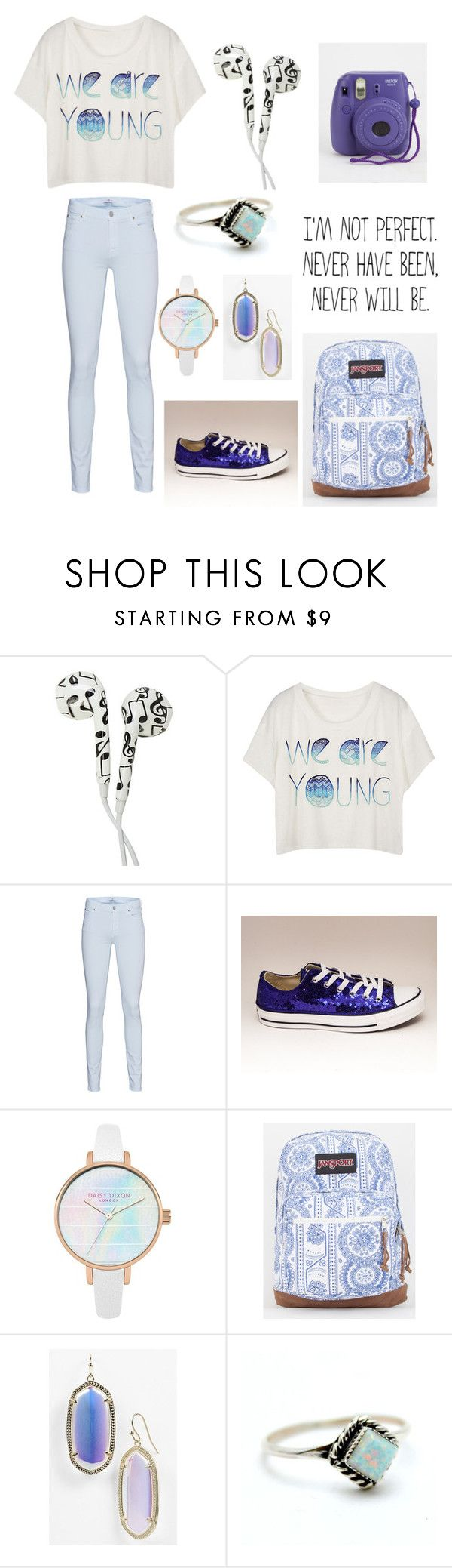 """school"" by xheba626x on Polyvore featuring 7 For All Mankind, JanSport, Kendra Scott and Child Of Wild"