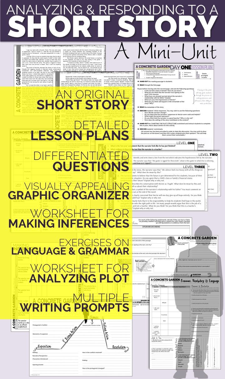 Analyzing short stories is a great way to help teach students about  elements of literature, making inferences, analyzing language, and as a  springboard into ...